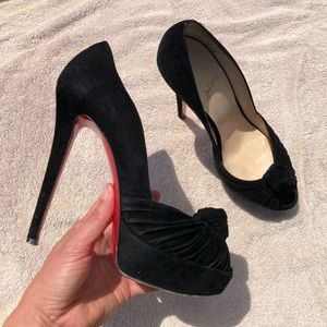 Christian Louboutin Greissimo black suede pumps 40